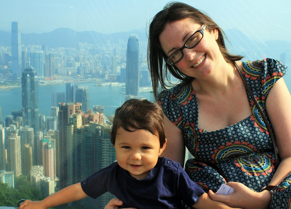 Me and my little boy at The Peak Hong Kong