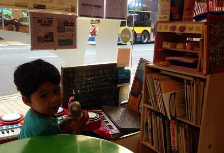 Playing at The Bonfire Cafe in Causeway Bay