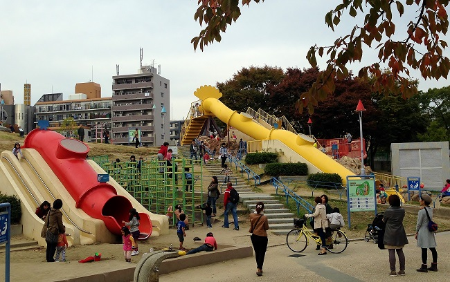 Ogimachi Park Children S Playground Osaka The Little