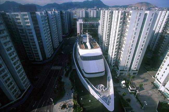 The Whampoa Cruise Ship Shopping Mall from the sky