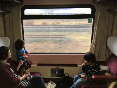 Berlin to Prague within a first class train compartment (3)
