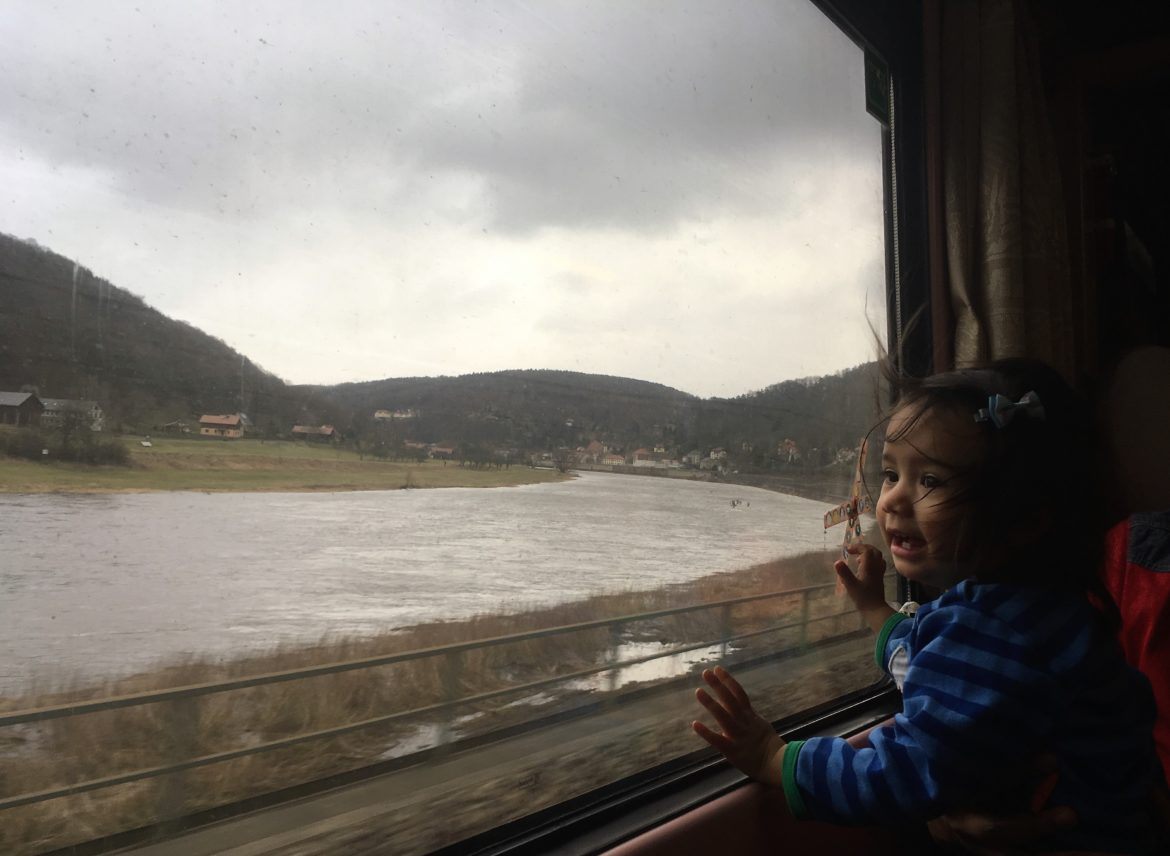 Prague to Berlin by train with kids,