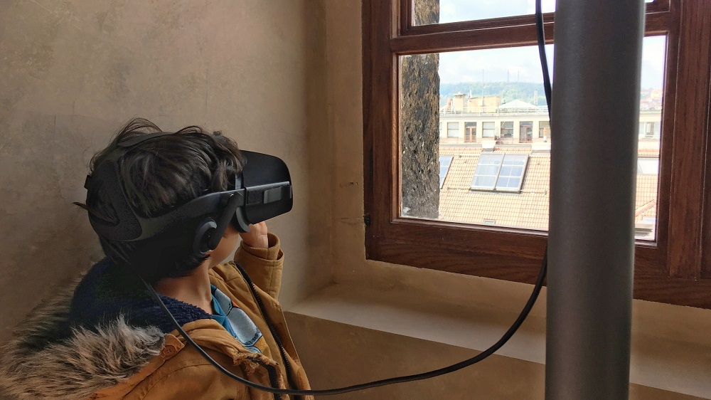Lookout Point Prague On Fire Virtual Reality