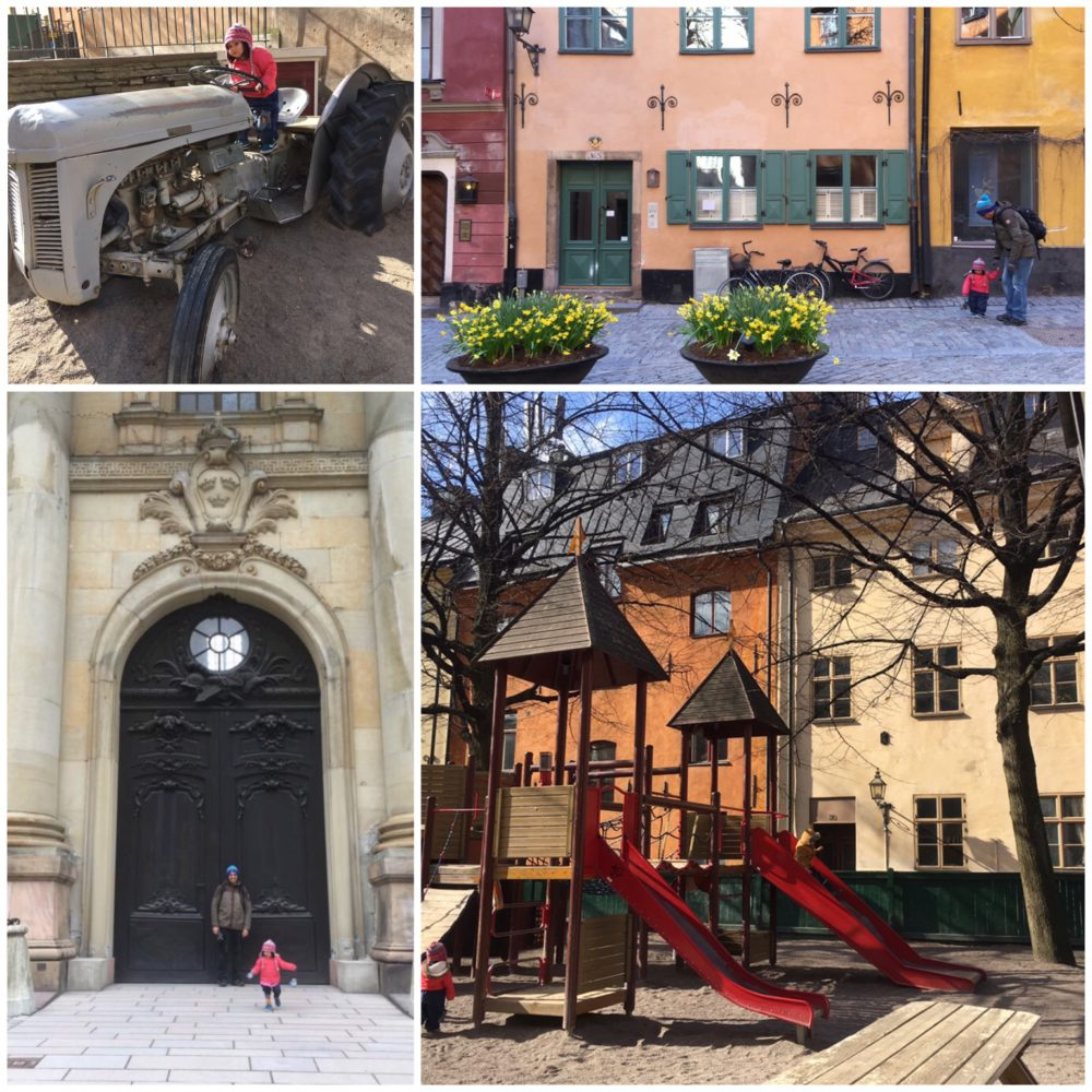 Playgrounds, palace doors and picturesque lanes in Gamla Stan Stockholm