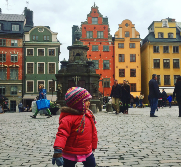 Stockholm with Kids - Enjoying beautiful Stortorget