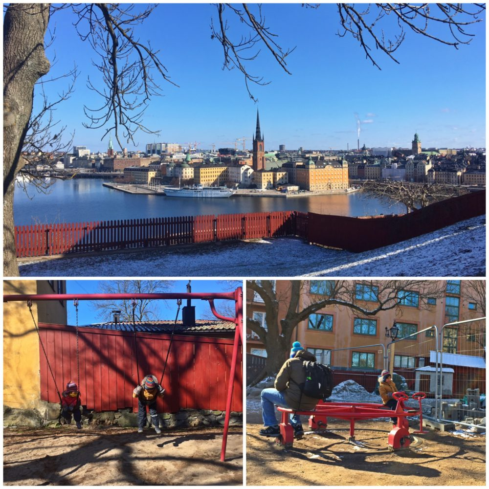 Ivar Los Park Stockholm - enjoying the playground and stunning views