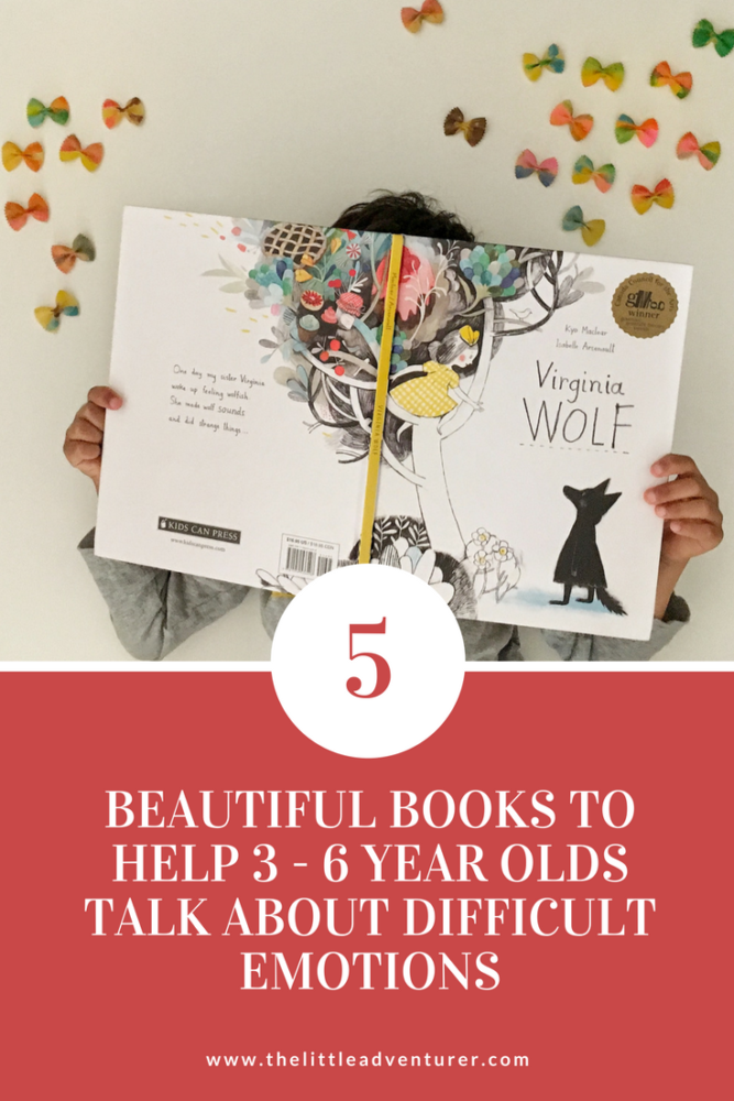 A review of 5 picture books that help 3 - 6 year olds talk about difficult emotions such as anger, worry and jealousy. #kidlit #picturebook #children #emotions