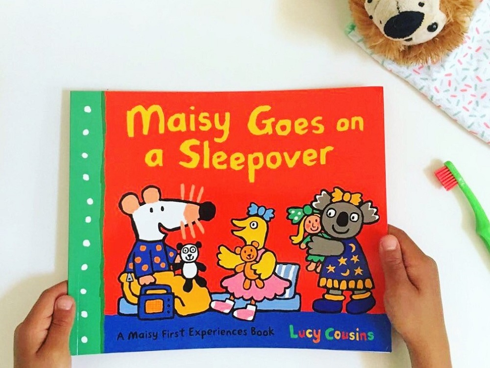 Review of Maisy goes on a Sleepover by Lucy Cousins, alongside other beautiful bedtime books