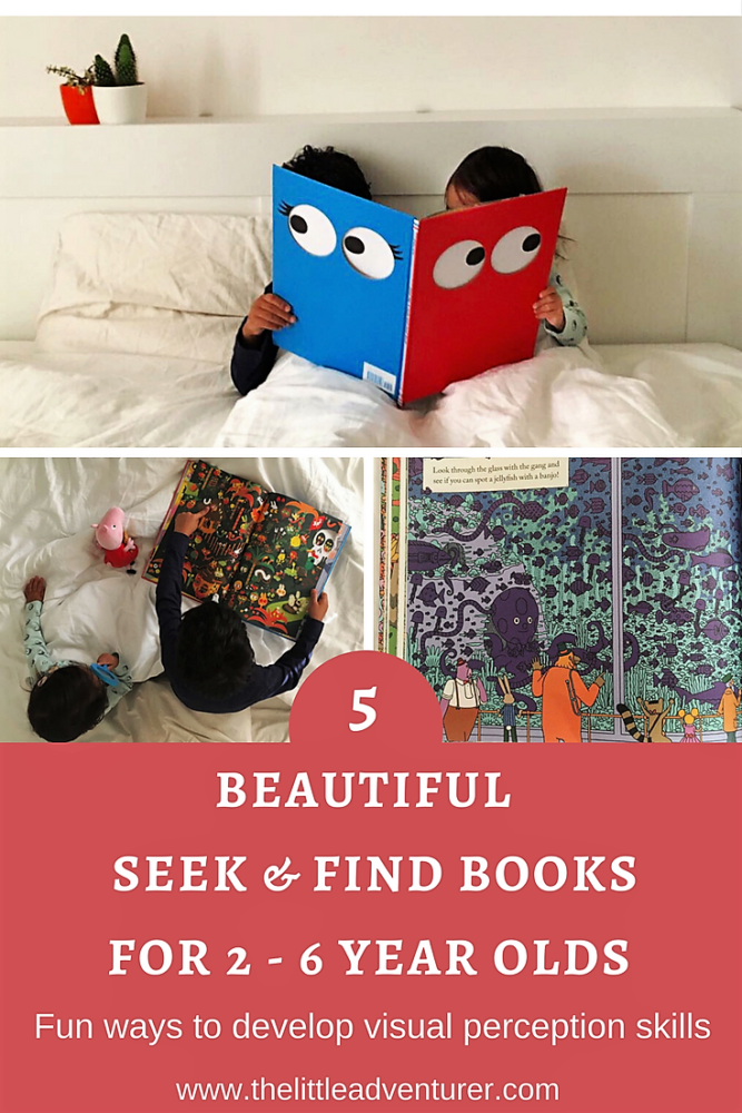 5 beautiful seek and find books for 2 - 6 year olds. Perfect to keep even the youngest detectives occupied during holidays, restaurant trips or just a wet afternoon at home. The Little Adventurer