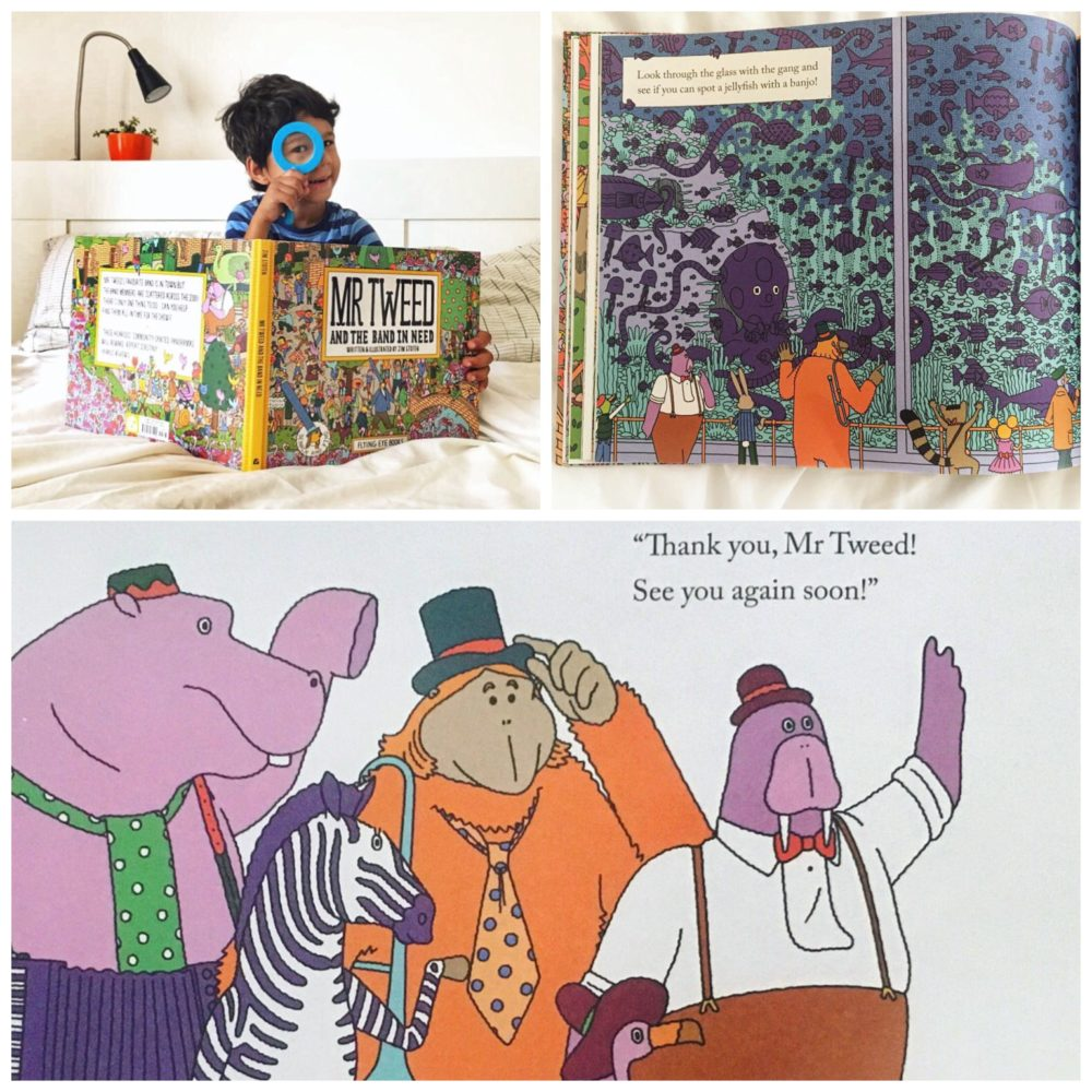 Mr Tweed and the Band in Need by Jim Stoten - one of the beautiful find and seek books best suited to 2 - 6 year olds - The Little Adventurer
