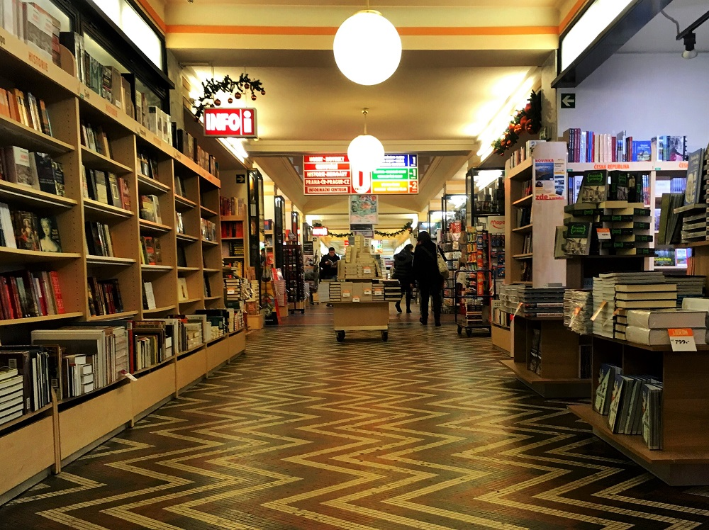 Neoluxor Palace of Books in Prague - part of a guide about Prague's most charming English bookshops