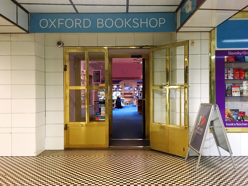 Oxford Bookshop Prague - Part of a guide to Prague's most charming English bookshops