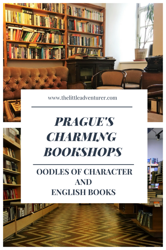 A guide to Prague's charming English bookshops. The perfect places to while away a happy half an hour, choosing a book for a journey or to enjoy in the cafe. Also includes information about where to find the best selections of children's books in English in Prague. #prague #bookshop #travel