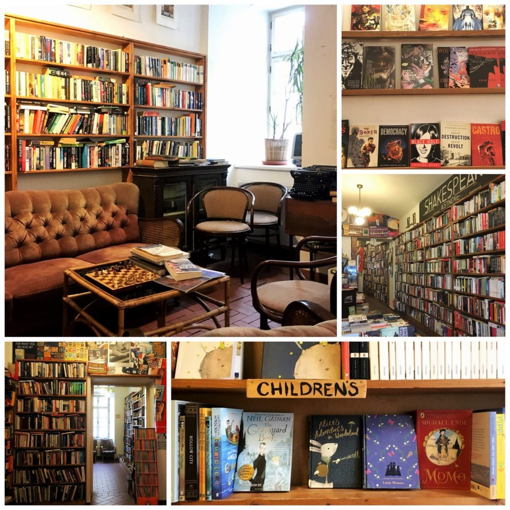 Shakespeare and Sons in Prague - Part of a guide to Prague's most charming English bookshops