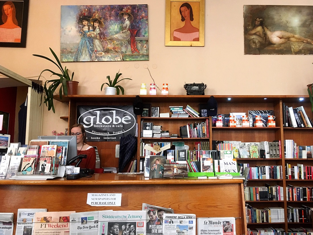 The Globe English Bookshop and Cafe in Prague - Part of a guide to Prague's most charming English bookshops
