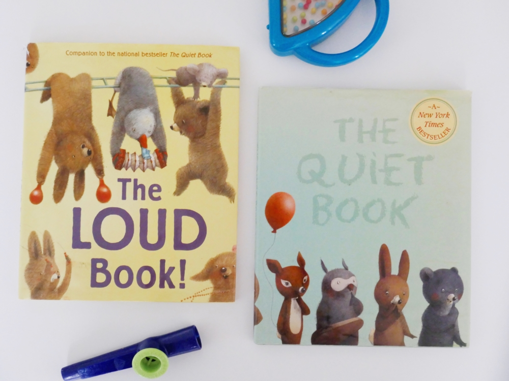The Loud Book and The Quiet Book - part of a round up of picture, activity and chapter books for 6 year olds. The Little Adventurer.