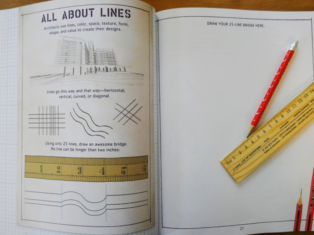 Iggy Peck's Big Project Book for Amazing Architects - part of a round up of picture, activity and chapter books for 6 year olds. The Little Adventurer.