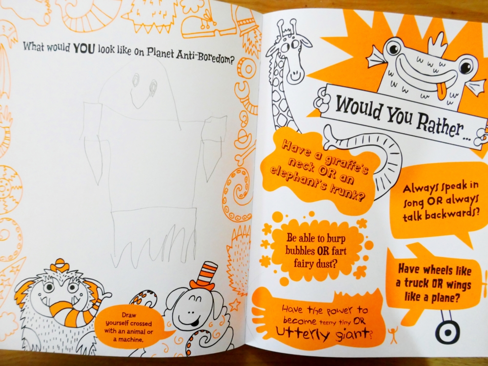 Anti-Boredom Activity Book - part of a round up of picture, activity and chapter books for 6 year olds. The Little Adventurer.